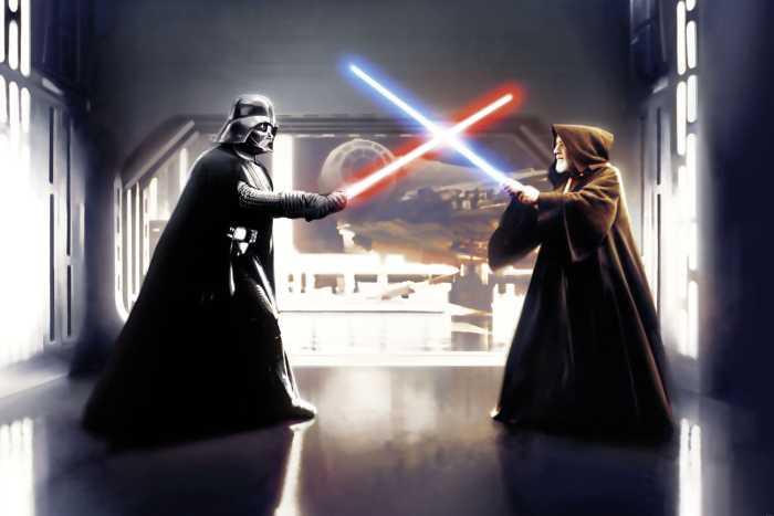 Poster XXL impression numérique Star Wars Vader vs. Kenobi