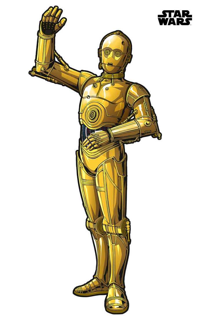 Sticker mural Star Wars XXL C-3PO