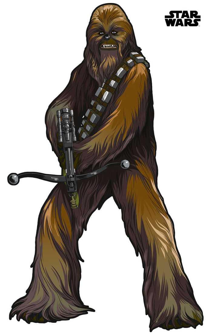 Sticker mural Star Wars XXL Chewbacca