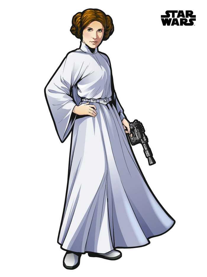 Sticker mural Star Wars XXL Princess Leia