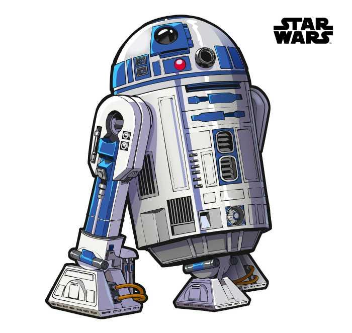 Sticker mural Star Wars XXL R2D2