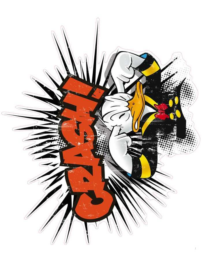 Sticker mural Donald crash XXL