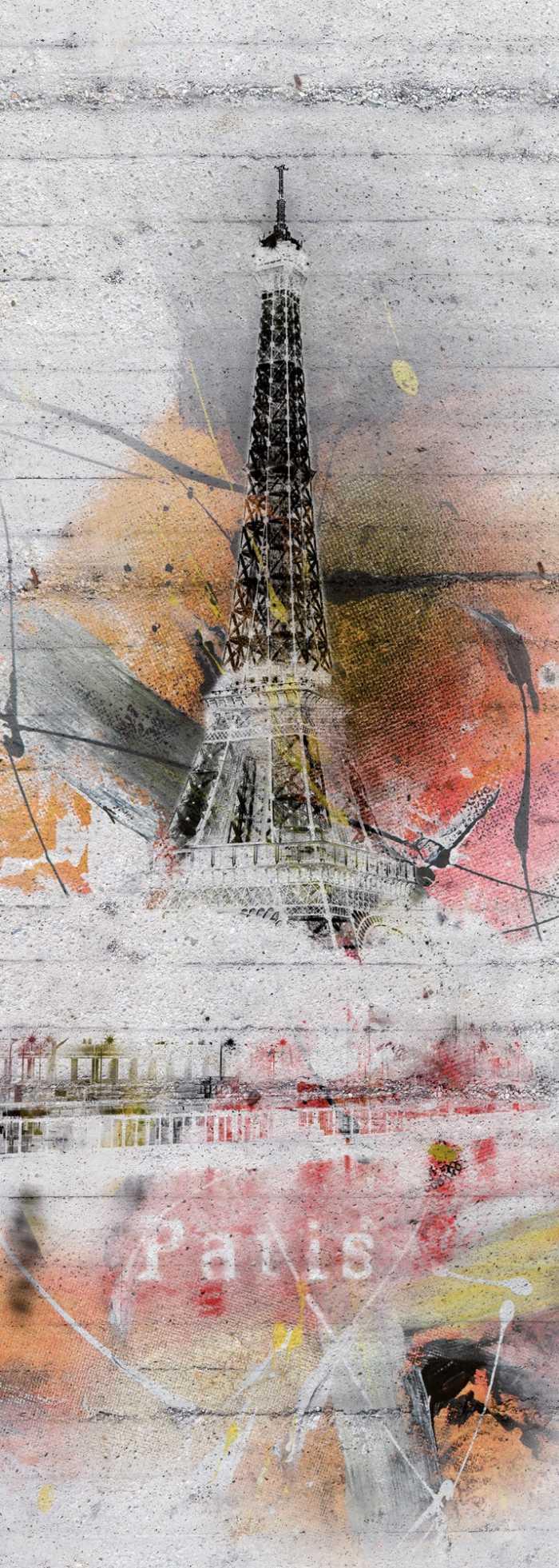 Panneau sur intissé  Paris