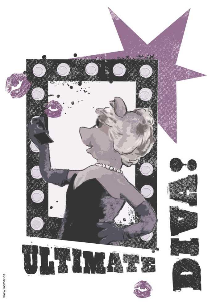 Sticker mural Ultimate Diva
