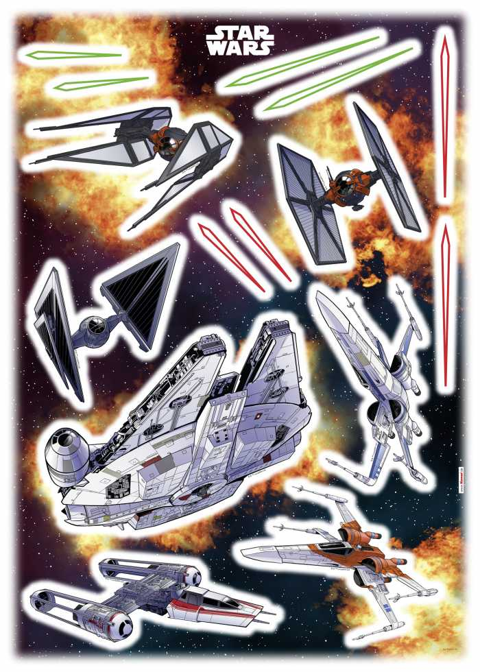 Sticker mural Star Wars Spaceship