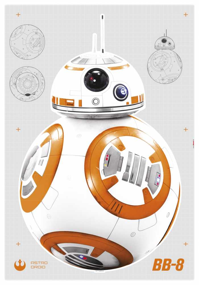 Sticker mural Star Wars BB-8