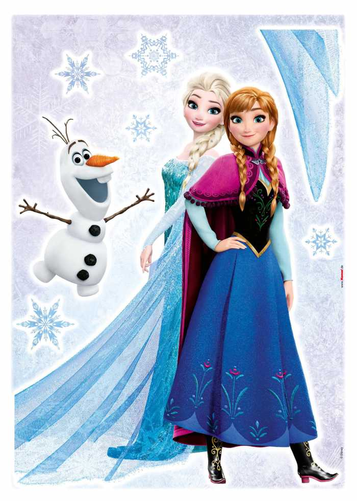 Sticker mural Frozen Sisters