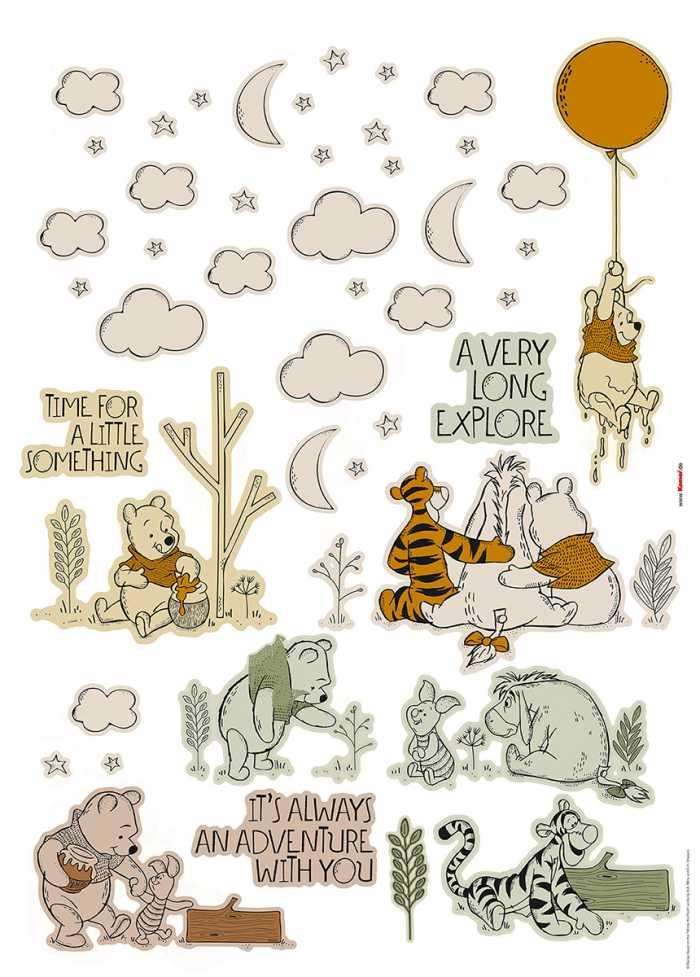 Sticker mural Winnies Woodland