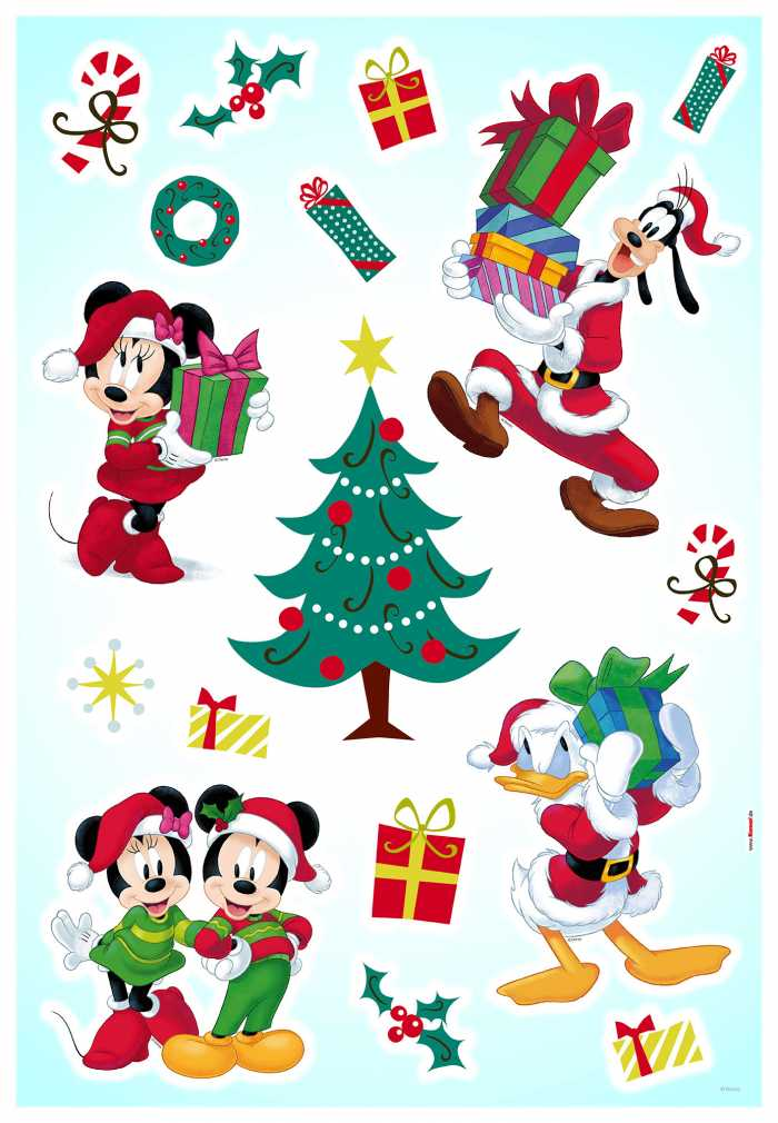 Sticker mural Mickey Christmas Presents