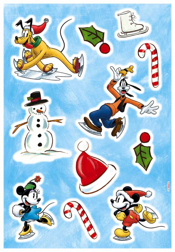 Sticker mural Mickey Ice slide