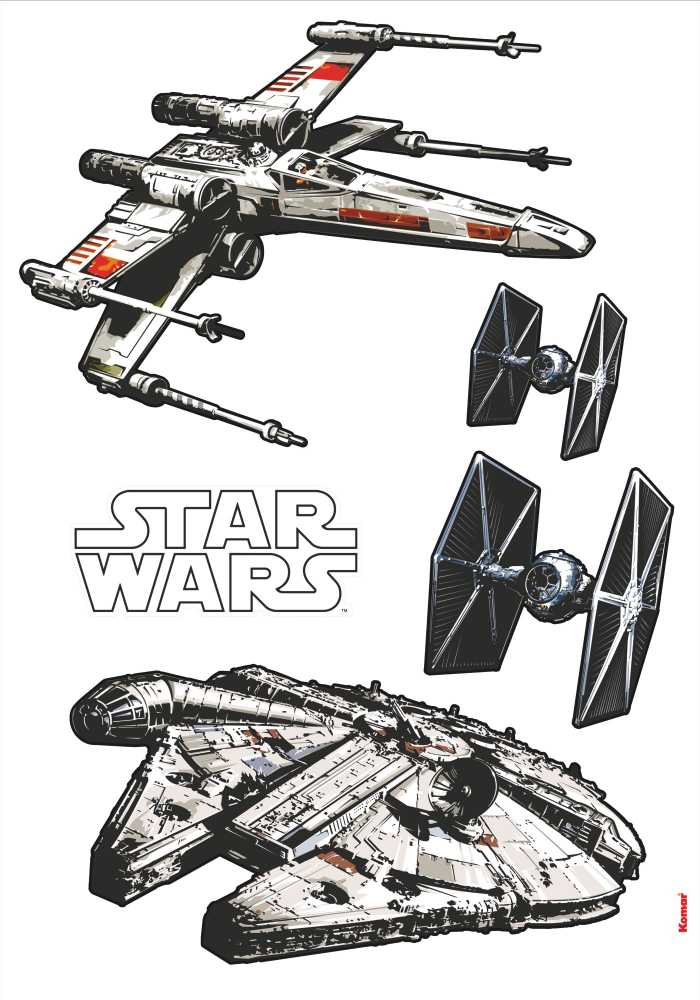 Sticker mural Star Wars Spaceships