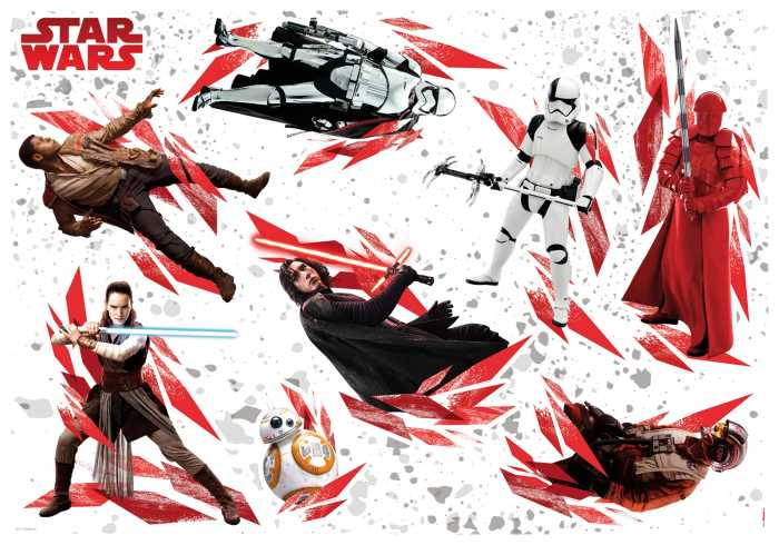 Sticker mural STAR WARS The Last Jedi