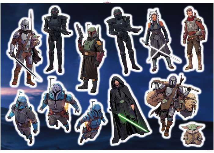 Sticker mural Mandalorian Iconic Figures