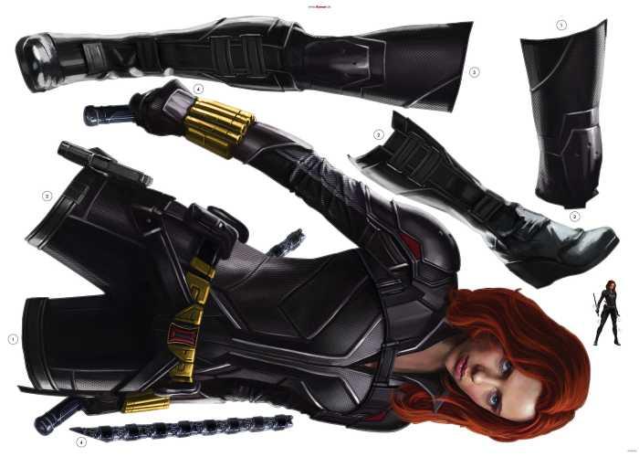 Sticker mural Black Widow Stand