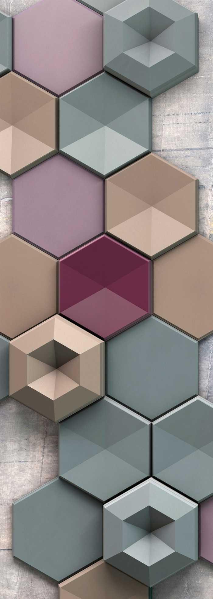 Panneau sur intissé  Hexagon