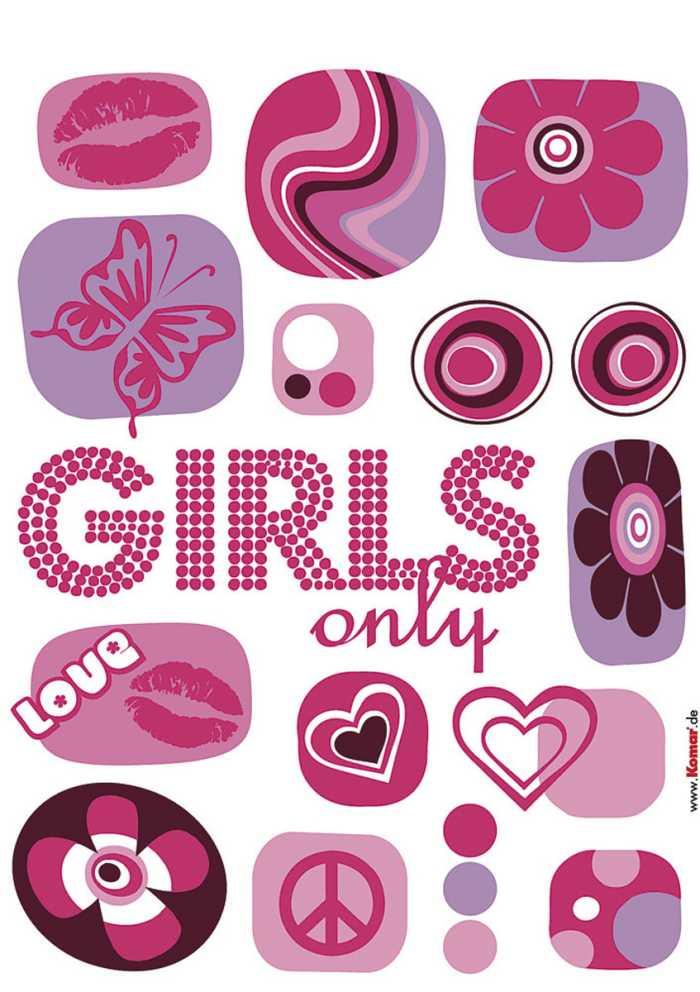 Sticker mural Girls only