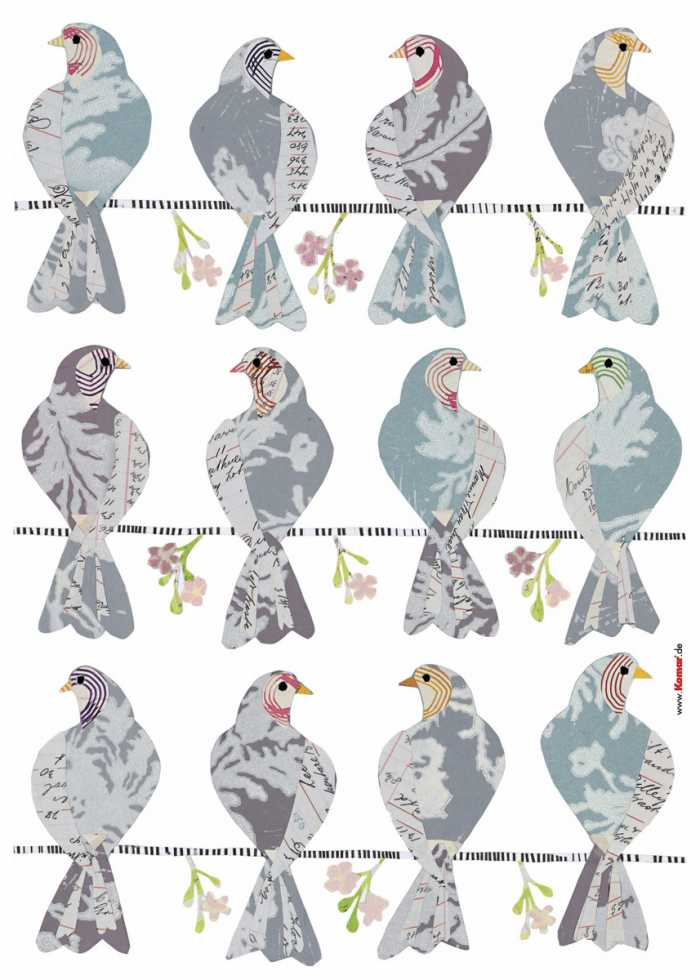 Sticker mural Doves