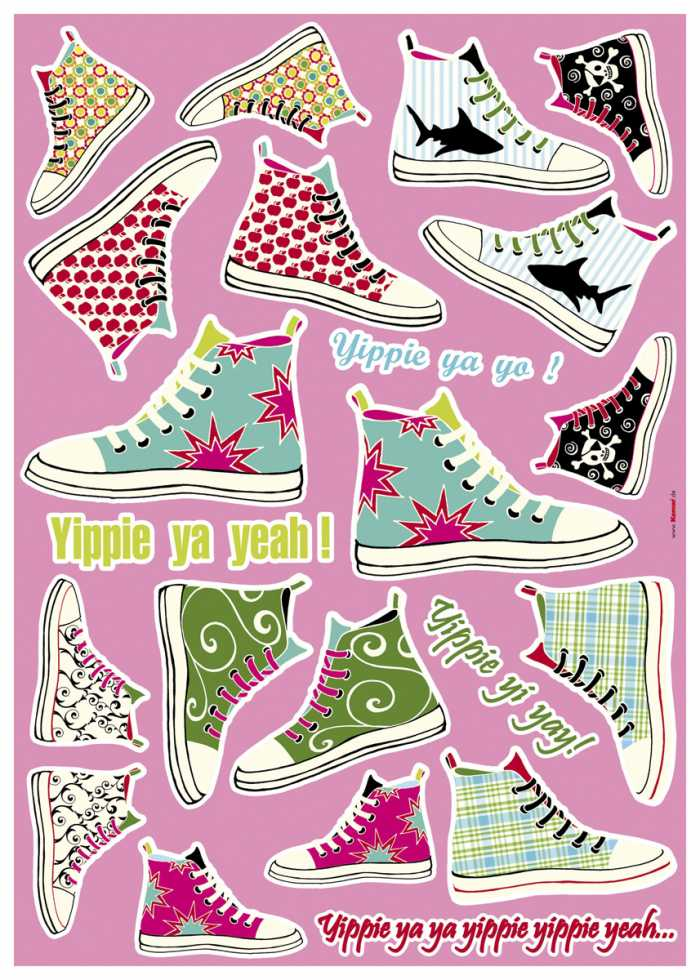 Sticker mural Sneakers