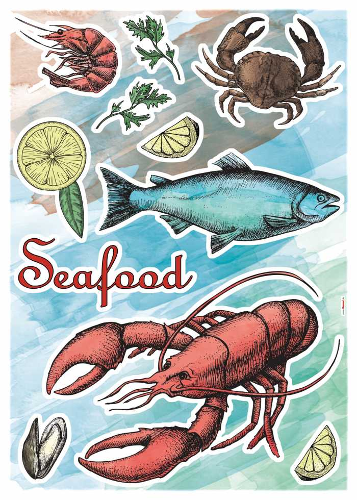 Sticker mural Seafood
