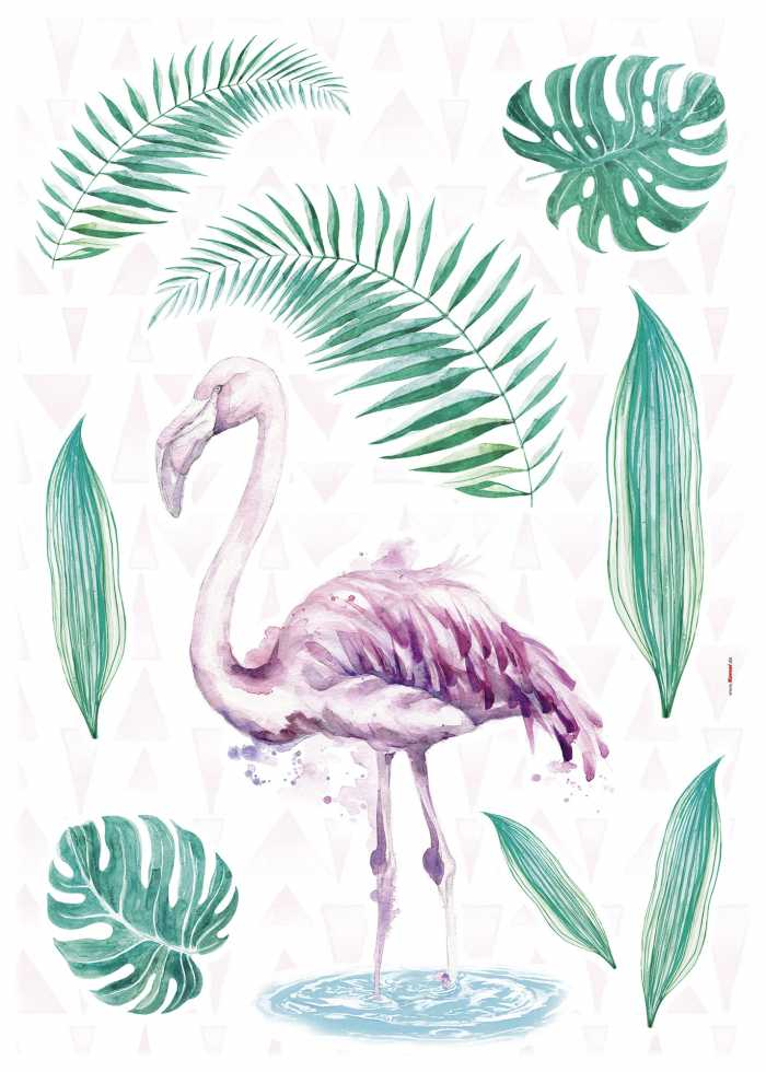 Sticker mural Flamingo