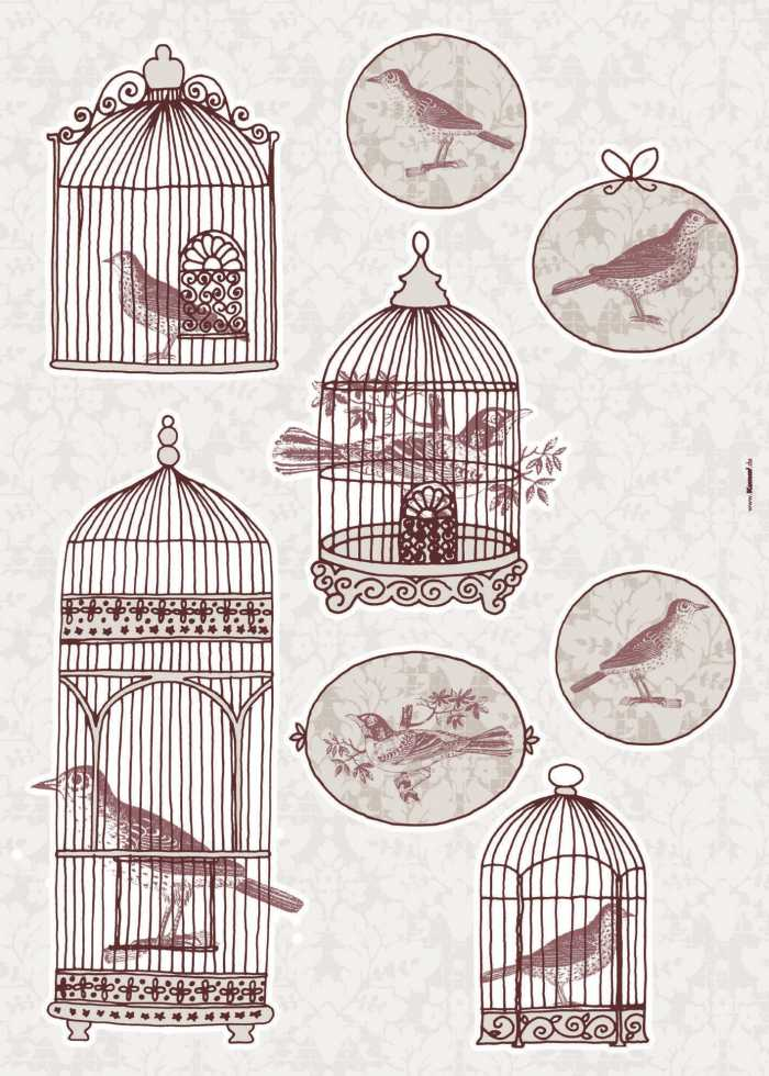 Sticker mural Bird Cage