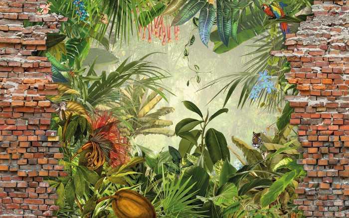 Poster XXL impression numérique Jungle View Bricklane
