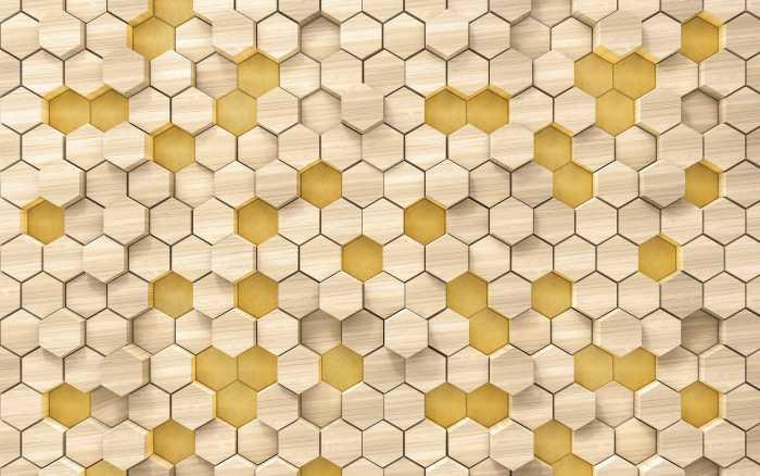 Poster XXL impression numérique Woodcomb Birch