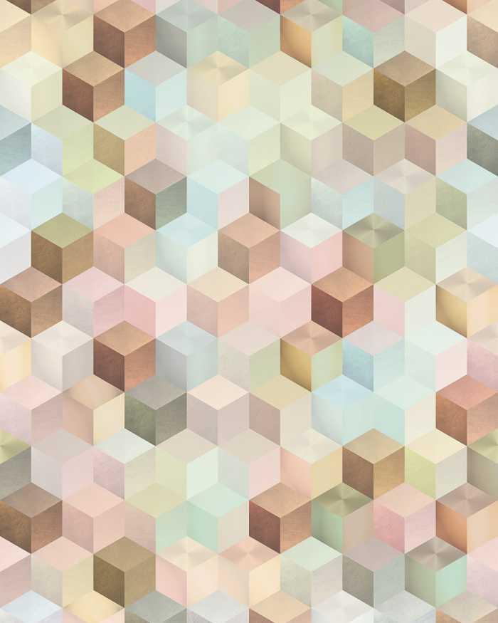 Poster XXL impression numérique Cubes