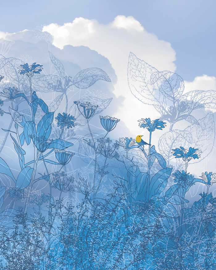 Poster XXL impression numérique Blue Sky