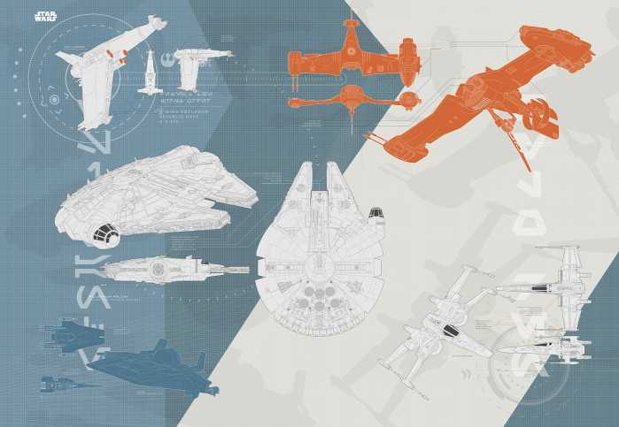 Photo murale STAR WARS Technical Plan