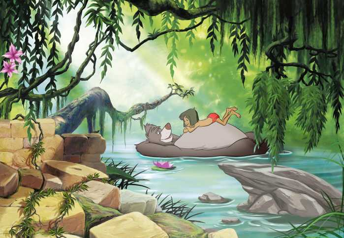 Photo murale Jungle book swimming with Baloo