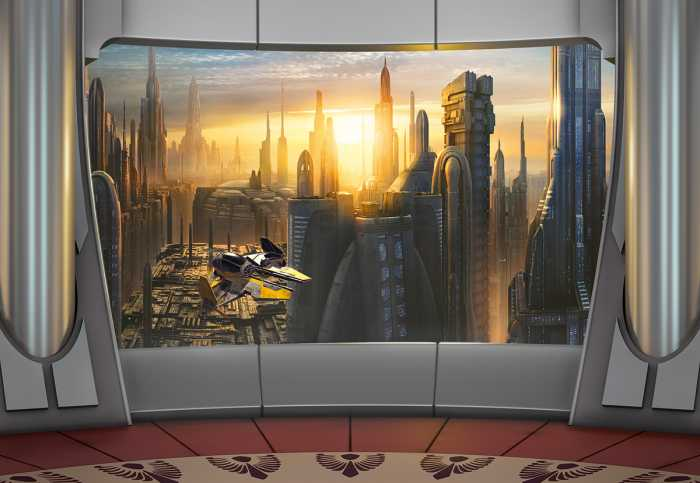 Photo murale Star Wars Coruscant View