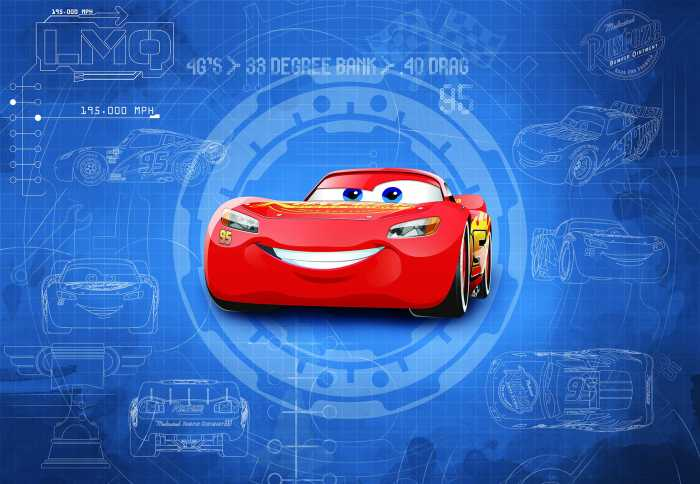 Photo murale Cars3 Blueprint