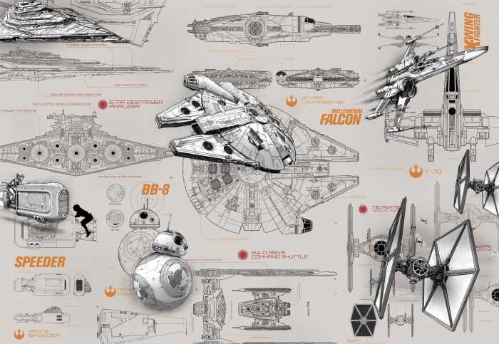 Photo murale Star Wars Blueprints