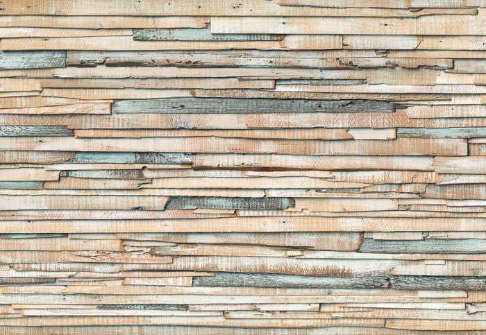 Photo murale Whitewashed Wood
