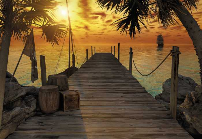 Photo murale Treasure Island