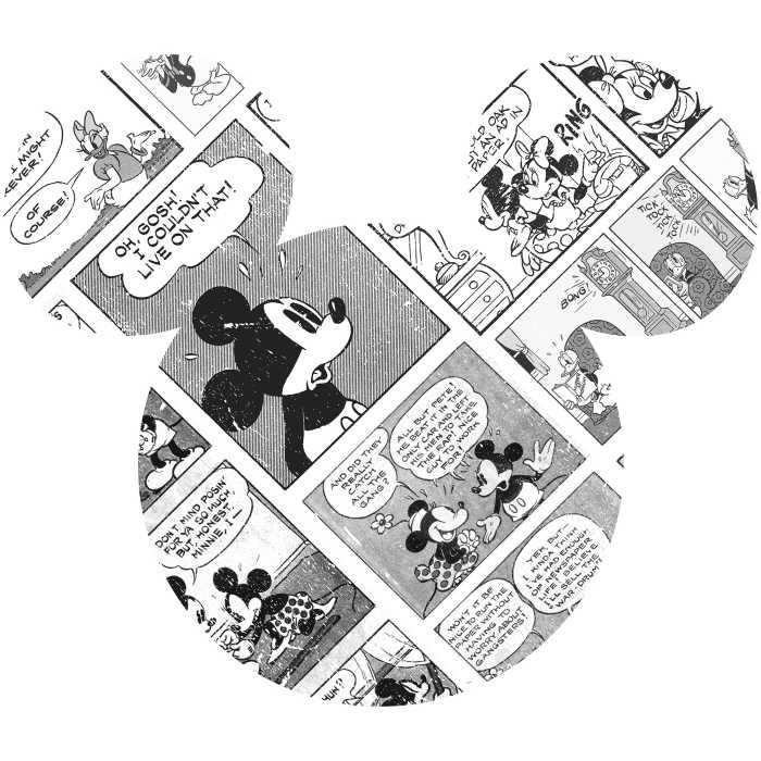 Sticker mural Mickey Head Comic Cartoon