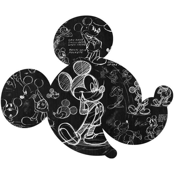 Sticker mural Mickey Head Illustration