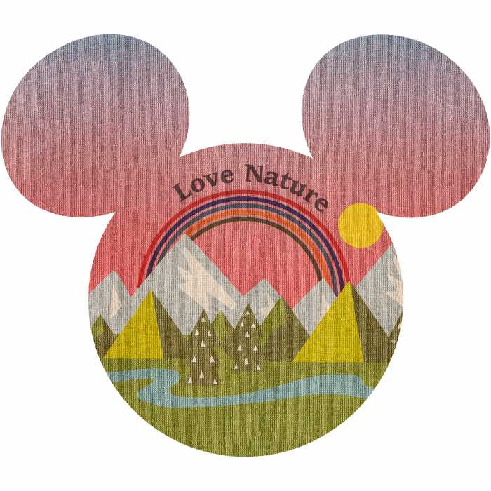 Sticker mural Mickey Head Summer Hike