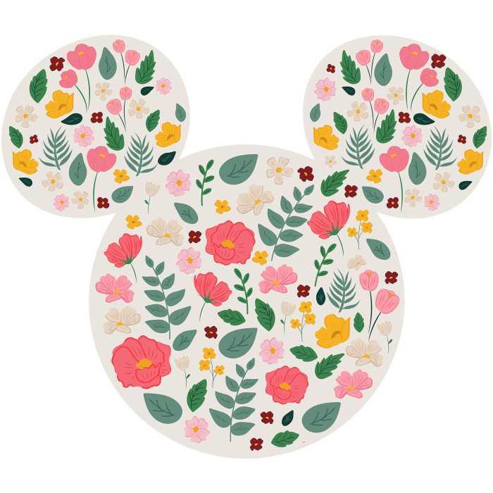 Sticker mural Mickey Head Wildflowers