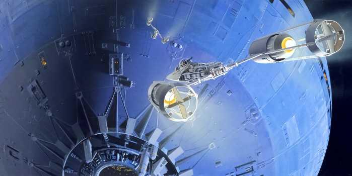 Poster XXL impression numérique Star Wars Classic RMQ Death Star Assault