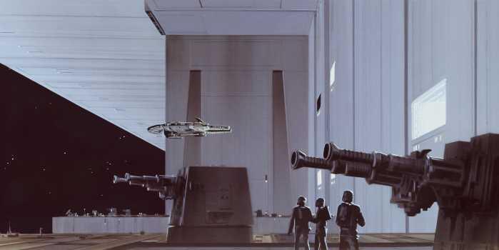 Poster XXL impression numérique Star Wars Classic RMQ Death Star Hangar
