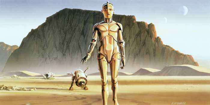 Poster XXL impression numérique Star Wars Classic RMQ Droids