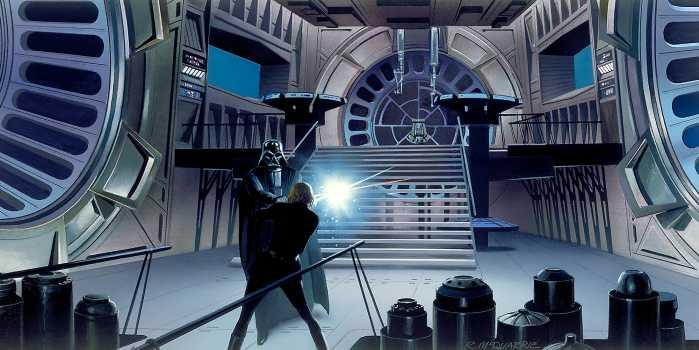Poster XXL impression numérique Star Wars Classic RMQ Duell Throneroom