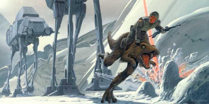 Poster XXL impression numérique Star Wars Classic RMQ Hoth Battle Ground