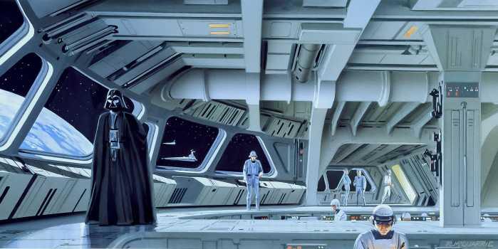 Poster XXL impression numérique Star Wars Classic RMQ Stardestroyer Deck