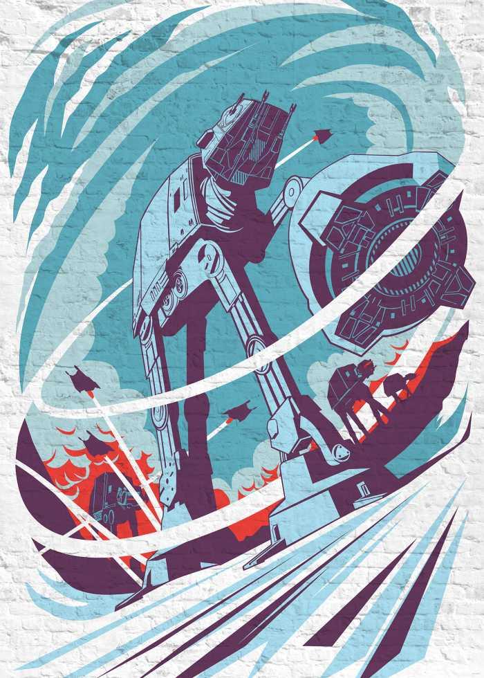 Poster XXL impression numérique Star Wars Classic Concrete Hoth
