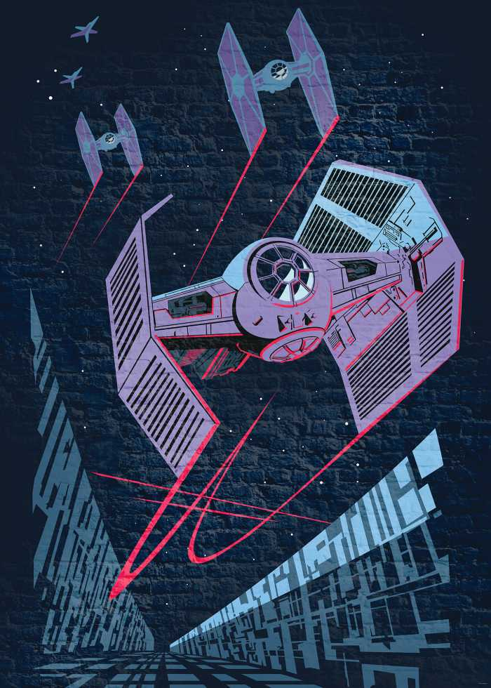 Poster XXL impression numérique Star Wars Classic Concrete TIE-Fighter