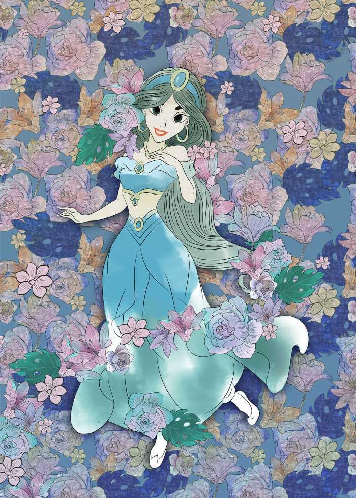 Poster XXL impression numérique Jasmin Colored Flowers