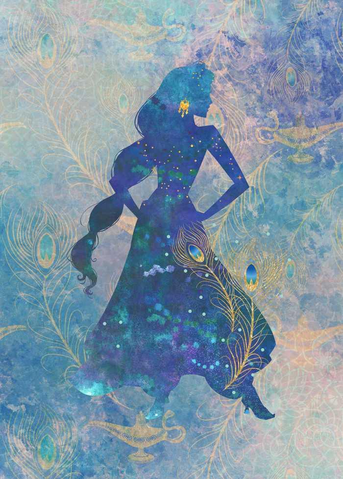 Poster XXL impression numérique Jasmin Silhouette